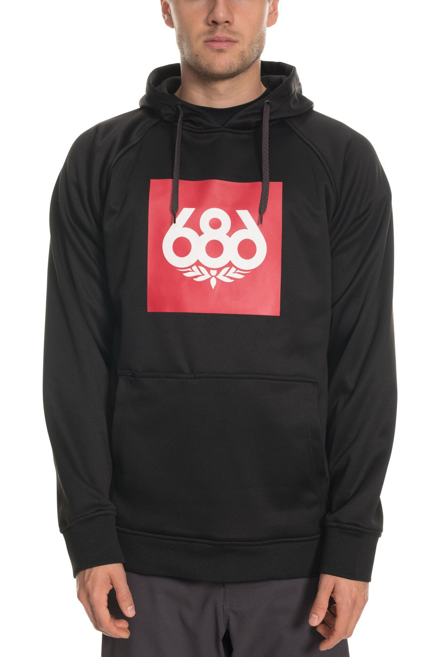 686 Knockout Bonded Pullover Hoodie Black MENS APPAREL - Men's Pullover Hoodies 686