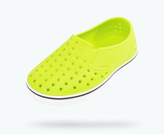 NATIVE Miles Child Shoes Chartreuse Green/Shell White FOOTWEAR - Youth Native and People Shoes Native Shoes