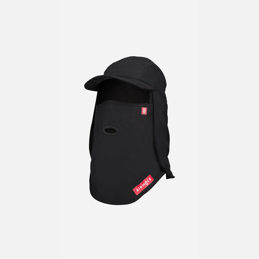 AIRHOLE 5 Panel Tech Hat Polar Black