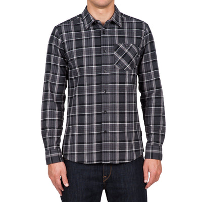 VOLCOM Gaines Flannel MENS APPAREL - Men's Long Sleeve Button Up Shirts Volcom ASB L