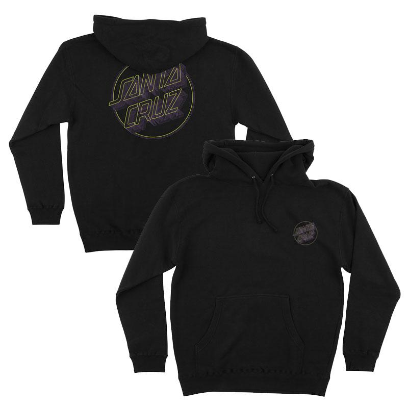 SANTA CRUZ Linear Dot Pullover Hoodie Black MENS APPAREL - Men's Pullover Hoodies Santa Cruz