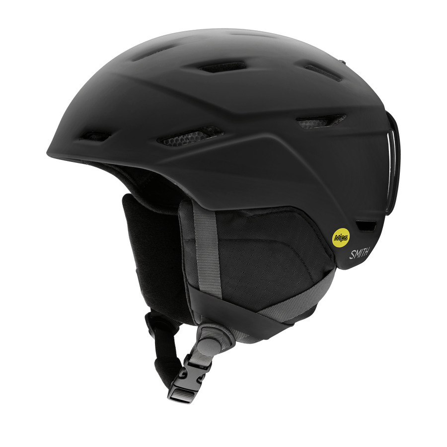 SMITH Mission MIPS Snow Helmet Matte Black 2021 SNOWBOARD ACCESSORIES - Men's Snowboard Helmets Smith
