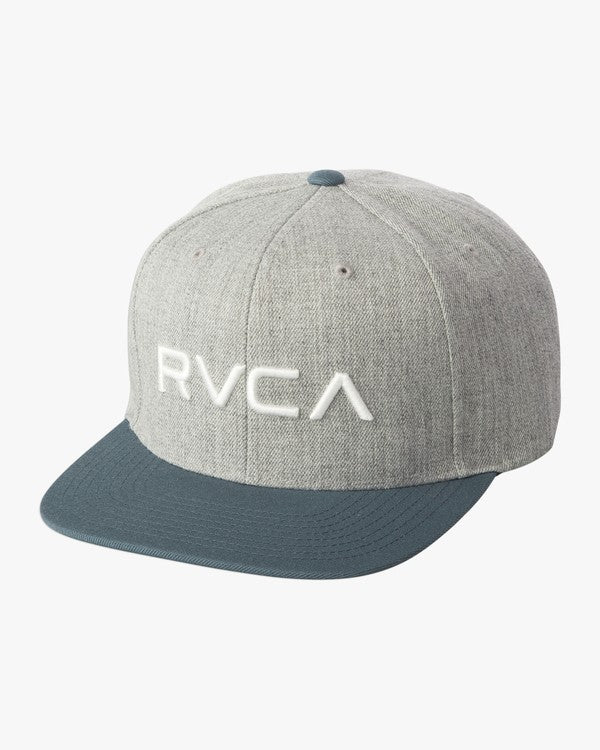 RVCA Twill III Youth Snapback Hat Grey/Blue