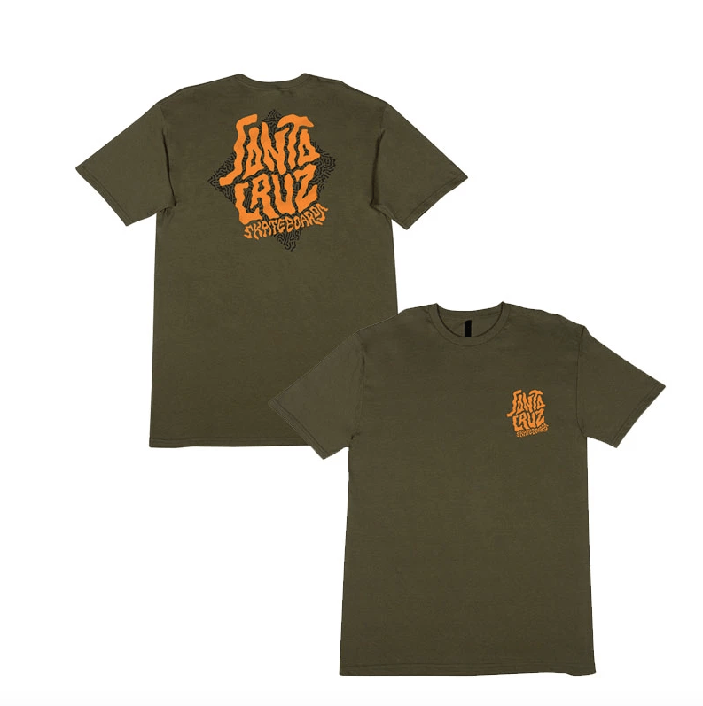 SANTA CRUZ Passage T-Shirt Military Green MENS APPAREL - Men's Short Sleeve T-Shirts Santa Cruz