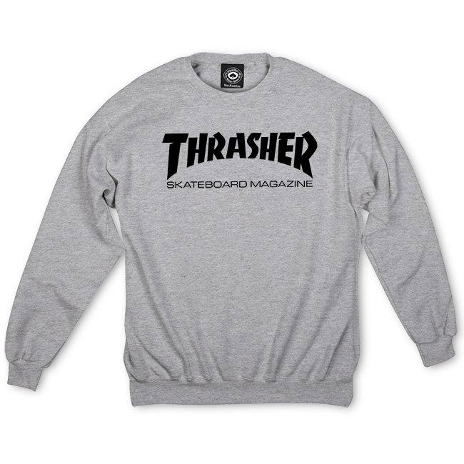 THRASHER Skate Mag Crew Grey MENS APPAREL - Men's Sweaters and Sweatshirts Thrasher