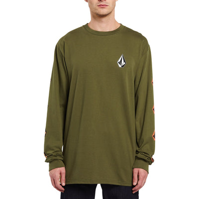 VOLCOM Deadly Stones L/S T-Shirt Military MENS APPAREL - Men's Long Sleeve T-Shirts Volcom