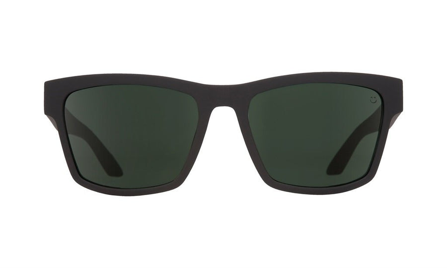 SPY Haight 2 Soft Matte Black - HD Plus Grey Green Polarized Sunglasses SUNGLASSES - Spy Sunglasses Spy
