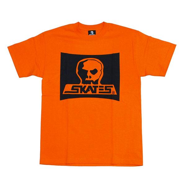 SKULL SKATES Burbs Logo T-Shirt Sunset Orange MENS APPAREL - Men's Short Sleeve T-Shirts Skull Skates
