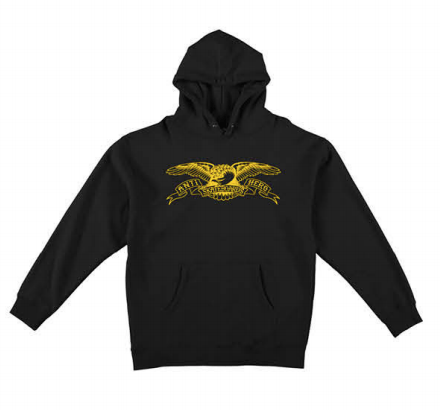 ANTIHERO Basic Eagle Pullover Hoodie Youth Black KIDS APPAREL - Boy's Pullover Hoodies Antihero