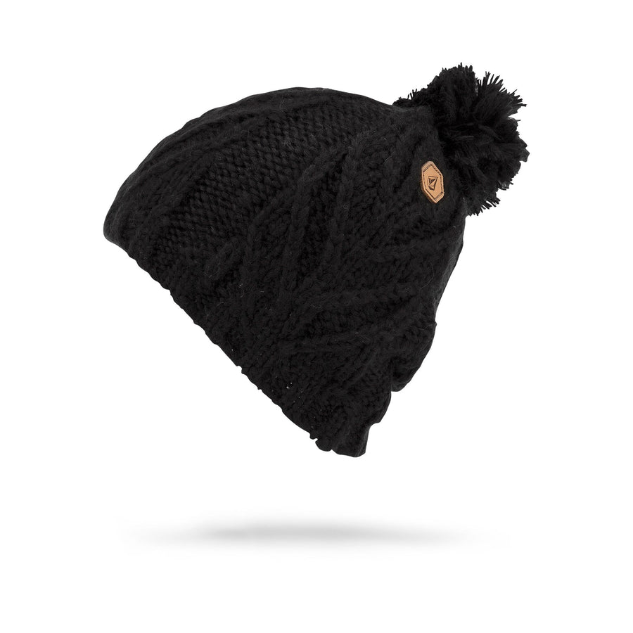 VOLCOM Leaf Beanie Women's Black WOMENS ACCESSORIES - Women's Beanies Volcom