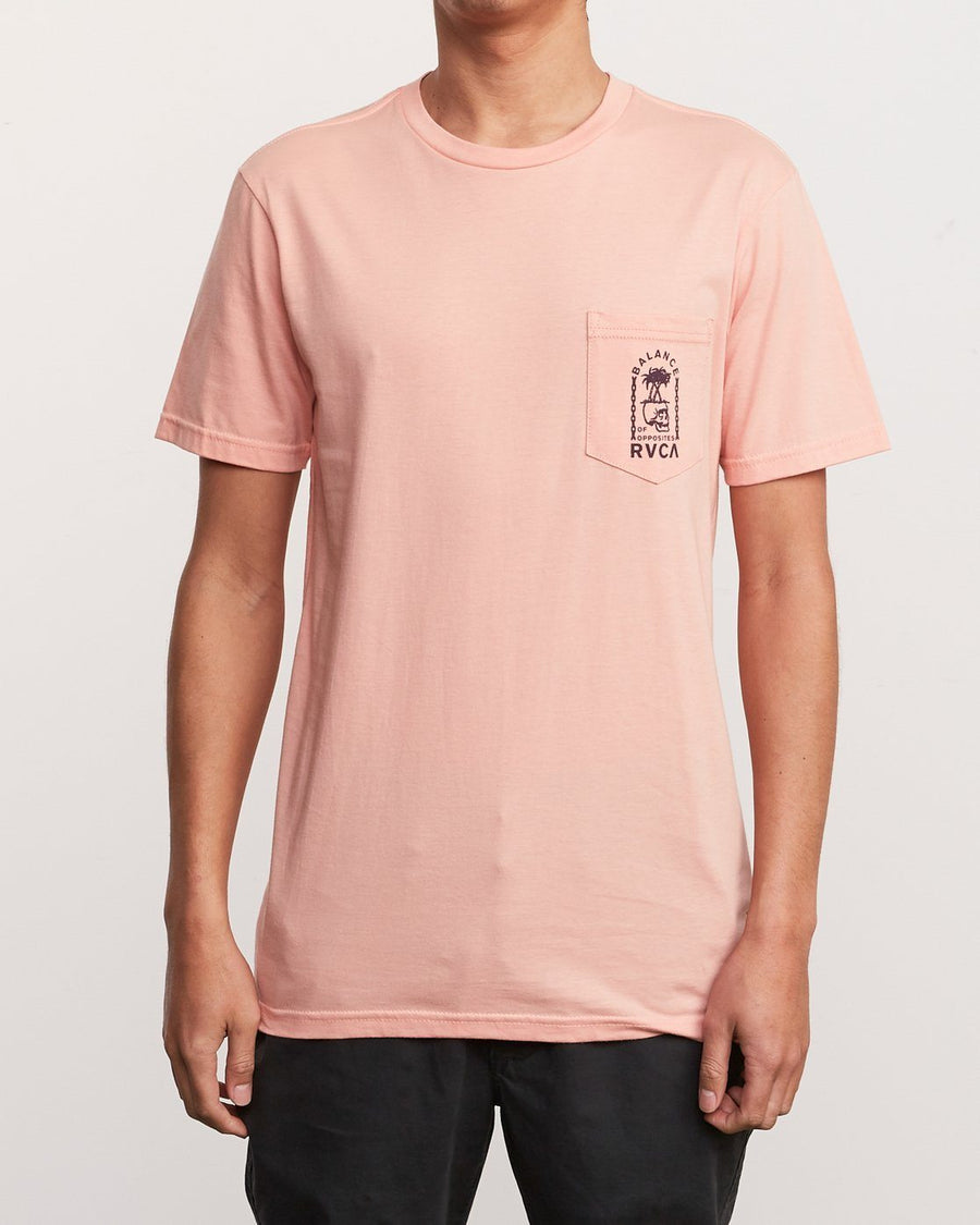 RVCA Bad Palms T-Shirt Coral