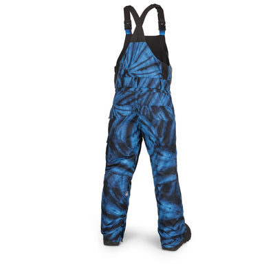 VOLCOM Barkley Bib Overall Youth Snowboard Pants Blue Tie-Dye 2019 YOUTH INFANT OUTERWEAR - Youth Snowboard Pants Volcom