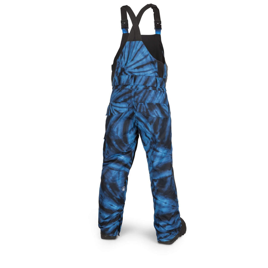 VOLCOM Barkley Bib Overall Youth Snowboard Pants Blue Tie-Dye 2019