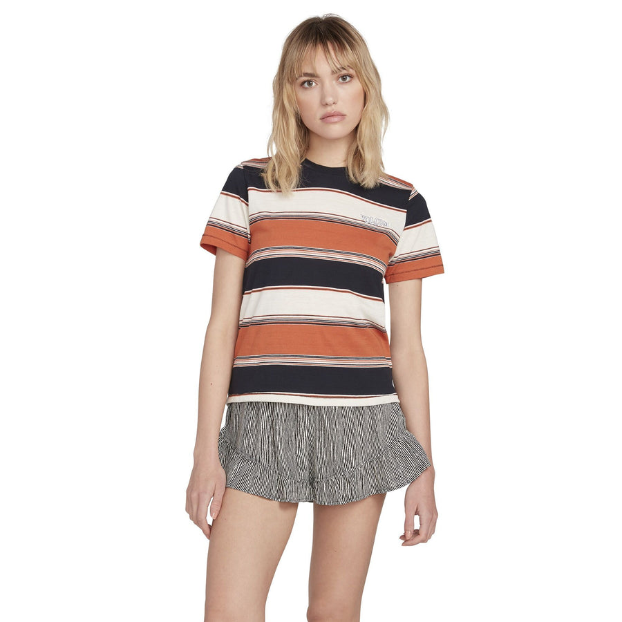 VOLCOM Chromatic S/S Crew Women's Burnt Orange