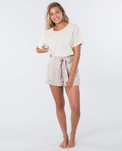 RIP CURL The Nomadic Shirt Women's Bone WOMENS APPAREL - Women's Walkshorts Rip Curl