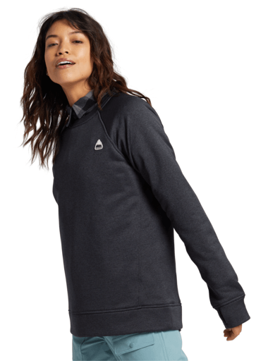 BURTON Oak Crew Women's True Black Heather WOMENS APPAREL - Women's Knits and Sweaters Burton