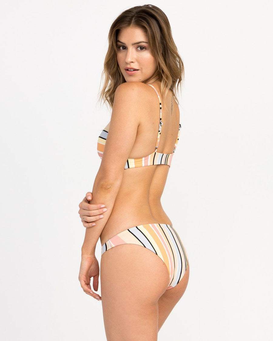 RVCA Horizon Reversible Stripe Medium Bikini Bottom WOMENS APPAREL - Women's Swimwear Bottoms RVCA