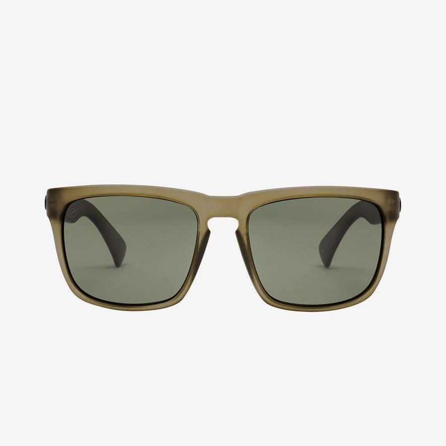 ELECTRIC Knoxville XL Matte Olive - Grey Polarized Sunglasses SUNGLASSES - Electric Sunglasses Electric