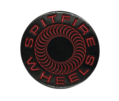 SPITFIRE Classic 87 Swirl Lapel Pin Black/Red ACCESSORIES - Lifestyle Items Spitfire