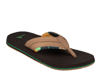 SANUK Beer Cozy 2 TX Sandals Tan/ Blanket FOOTWEAR - Men's Sandals Sanuk 10