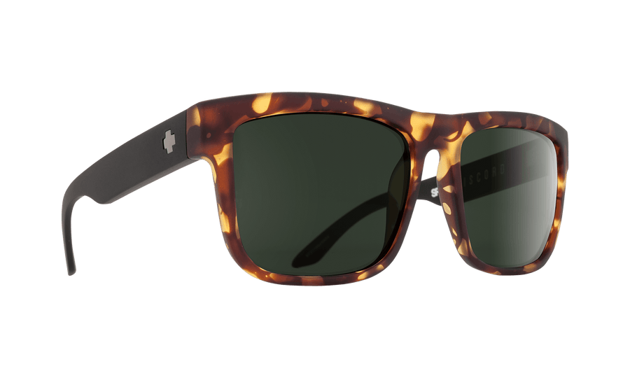 SPY Discord Vintage Tortoise - HD Plus Gray Green SUNGLASSES - Spy Sunglasses Spy