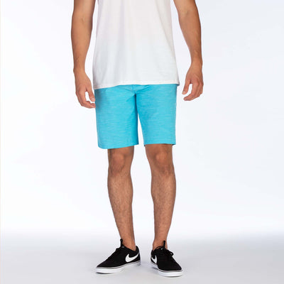 "HURLEY Phantom Jetty 20"" Hybrid Shorts Blue Fury MENS APPAREL - Men's Hybrid Shorts Hurley"