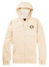 BURTON Oak Seasonal Full Zip Hoodie Creme Brulee Heather MENS APPAREL - Men's Zip Hoodies Burton
