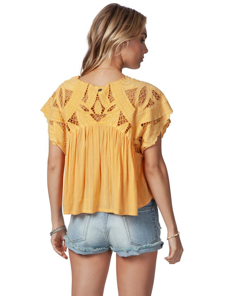 RIP CURL Seaview Top Gold WOMENS APPAREL - Women's Blouses Rip Curl L