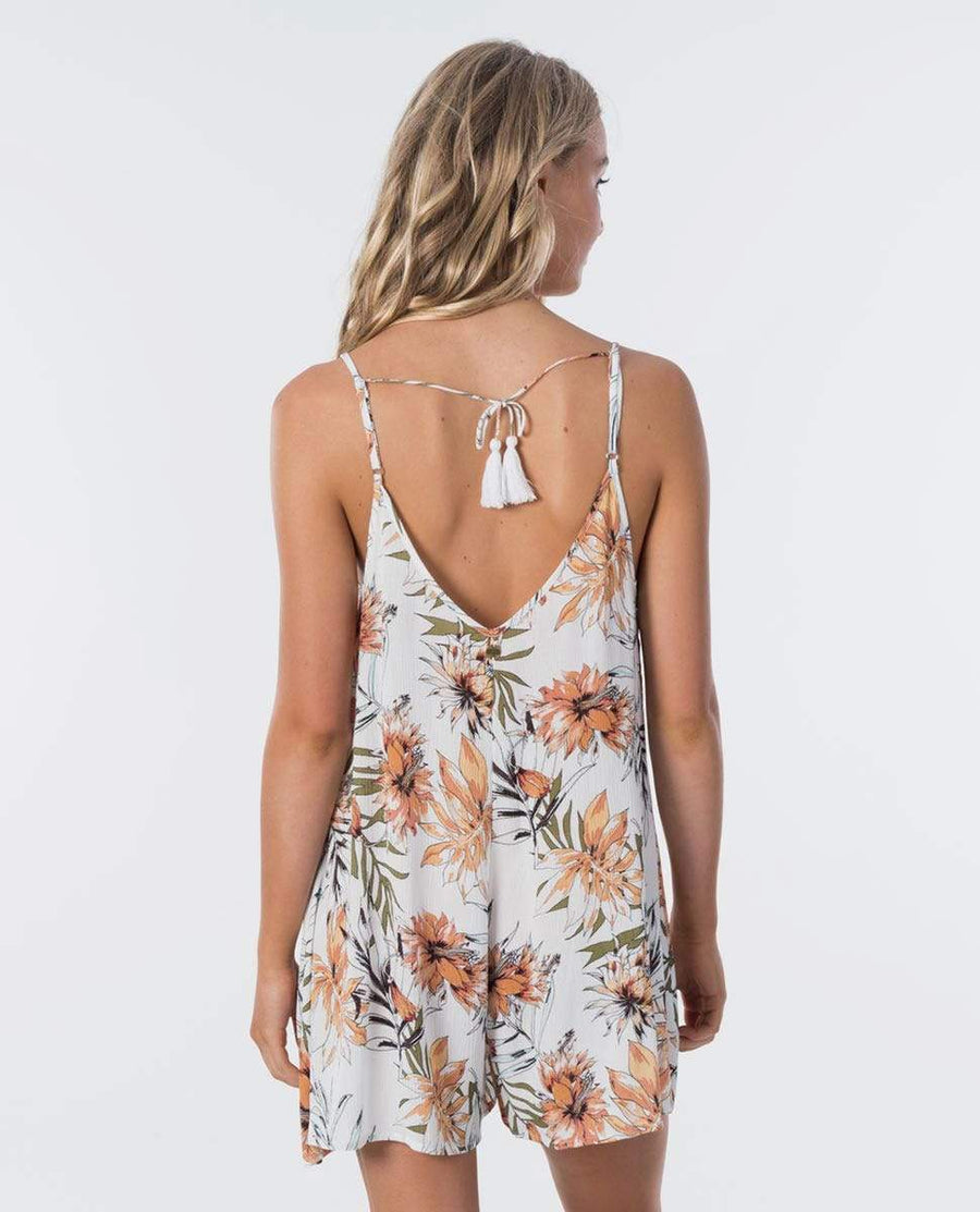 RIP CURL Playa Blanca Romper Women's White WOMENS APPAREL - Women's Jumpers and Rompers Rip Curl