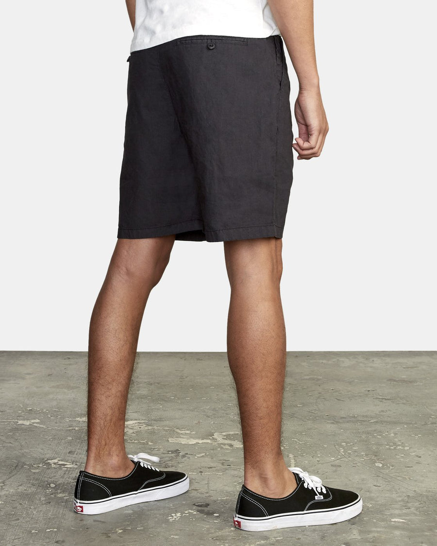 RVCA Crushed Walkshort Pirate Black MENS APPAREL - Men's Walkshorts RVCA
