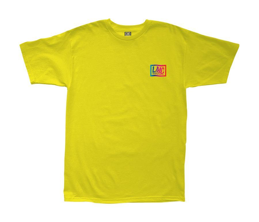 LOSER MACHINE Psyched Stock T-Shirt Yellow MENS APPAREL - Men's Short Sleeve T-Shirts Loser Machine