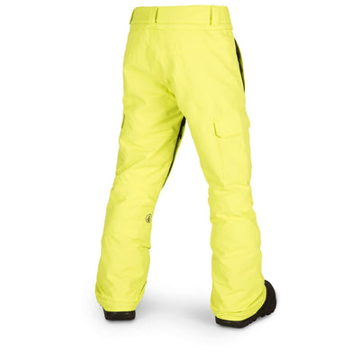 VOLCOM Cargo Insulated Youth Snowboard Pants Lime 2019 YOUTH INFANT OUTERWEAR - Youth Snowboard Pants Volcom