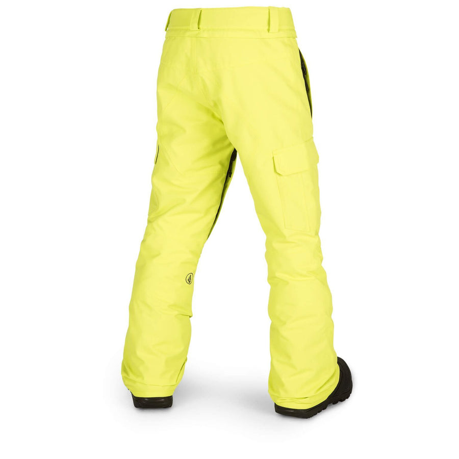 VOLCOM Cargo Insulated Youth Snowboard Pants Lime 2019 YOUTH INFANT OUTERWEAR - Youth Snowboard Pants Volcom S