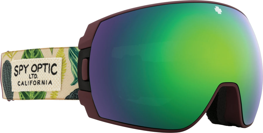 SPY Legacy SE Botanical - HD Plus Bronze with Green Spectra Mirror + HD Plus LL Persimmon with Silver Spectra Mirror Snow Goggle GOGGLES - Spy Goggles Spy
