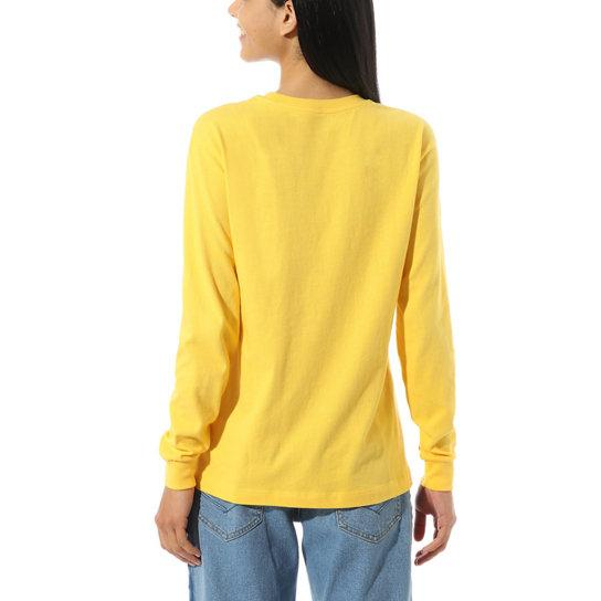 VANS Make Me Your Own Long Sleeve T-Shirt Women's Lemon Chrome WOMENS APPAREL - Women's Long Sleeve T-Shirts Vans