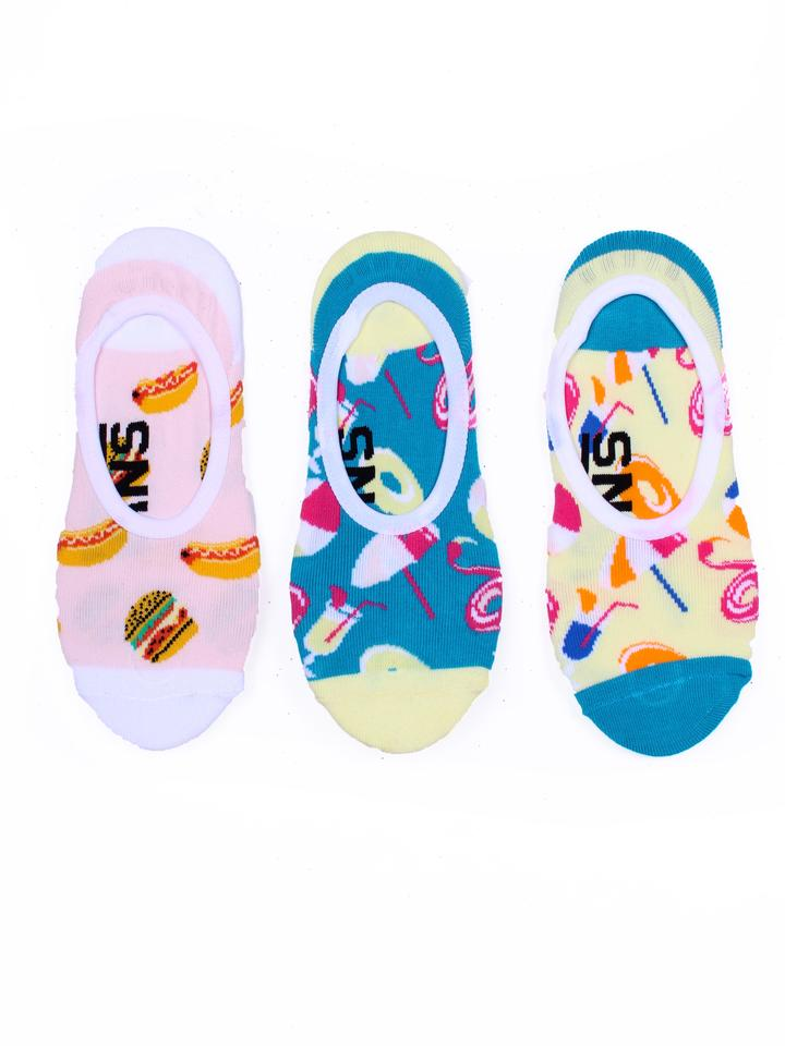 VANS Pool Party Canoodle 3 Pack Socks Women's Multi