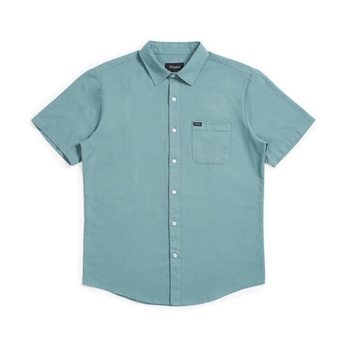BRIXTON Charter Oxford S/S Woven Jade MENS APPAREL - Men's Short Sleeve Button Up Shirts Brixton