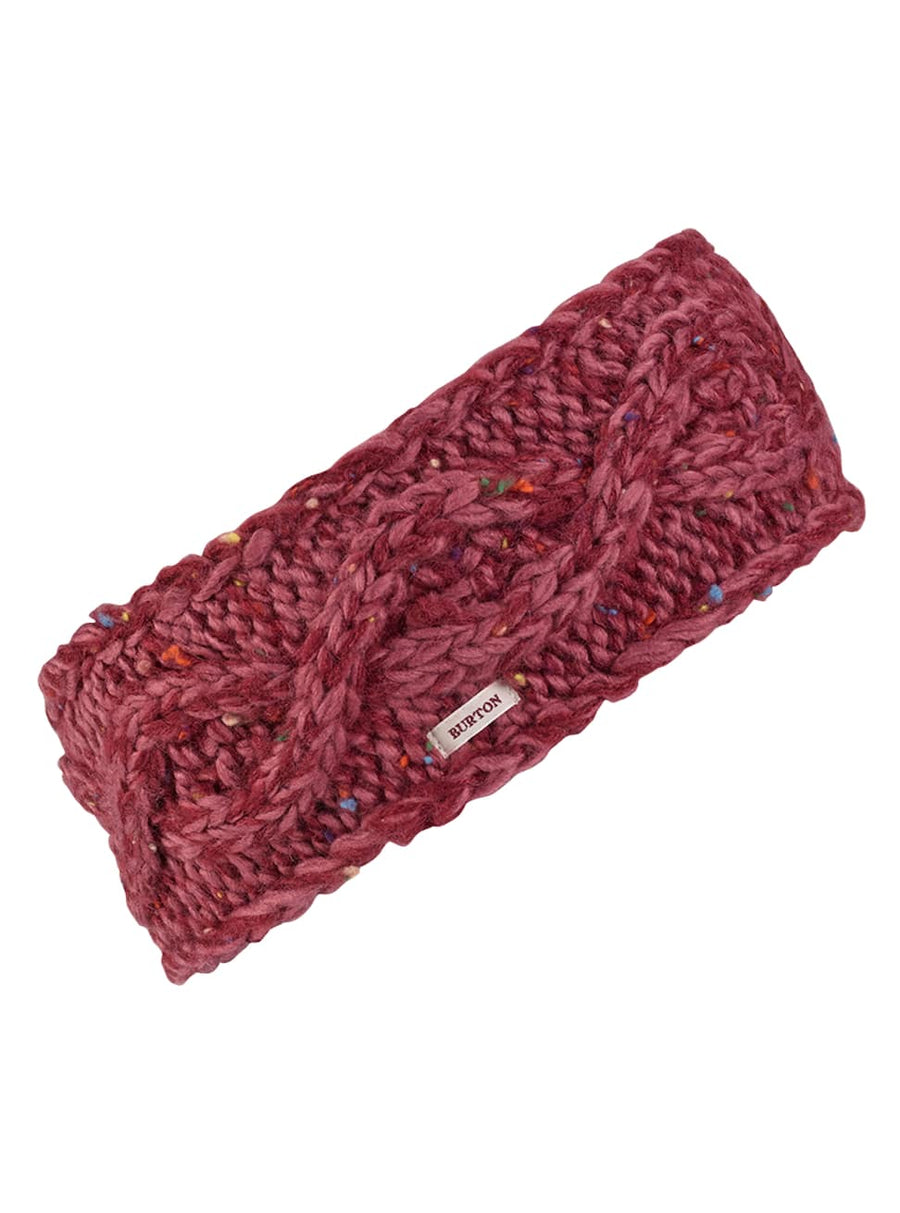 BURTON Chloe Headband Women's Rose Brown/ Port Royal Marble WOMENS ACCESSORIES - Women's Beanies Burton