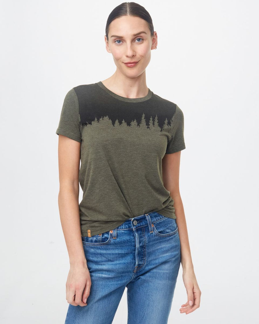TENTREE Juniper Classic T-Shirt Women's Olive Night Green Heather