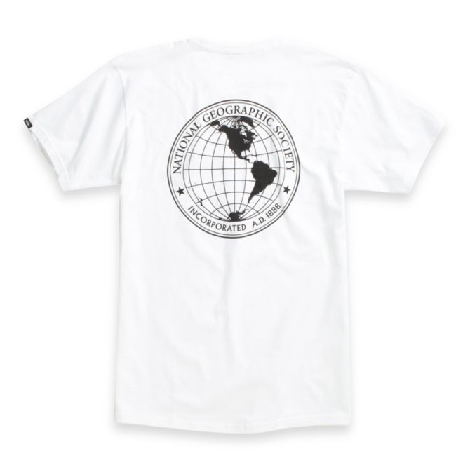 VANS X NATIONAL GEOGRAPHIC T-Shirt White/Nat Geo MENS APPAREL - Men's Short Sleeve T-Shirts Vans