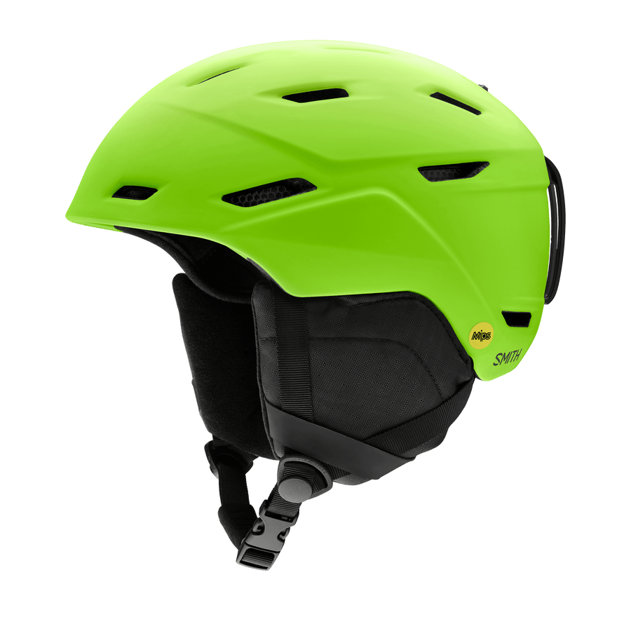 SMITH Mission MIPS Snow Helmet Matte Limelight 2021 SNOWBOARD ACCESSORIES - Men's Snowboard Helmets Smith