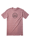 NIXON Waves III T-Shirt Burgundy Heather MENS APPAREL - Men's Short Sleeve T-Shirts Nixon
