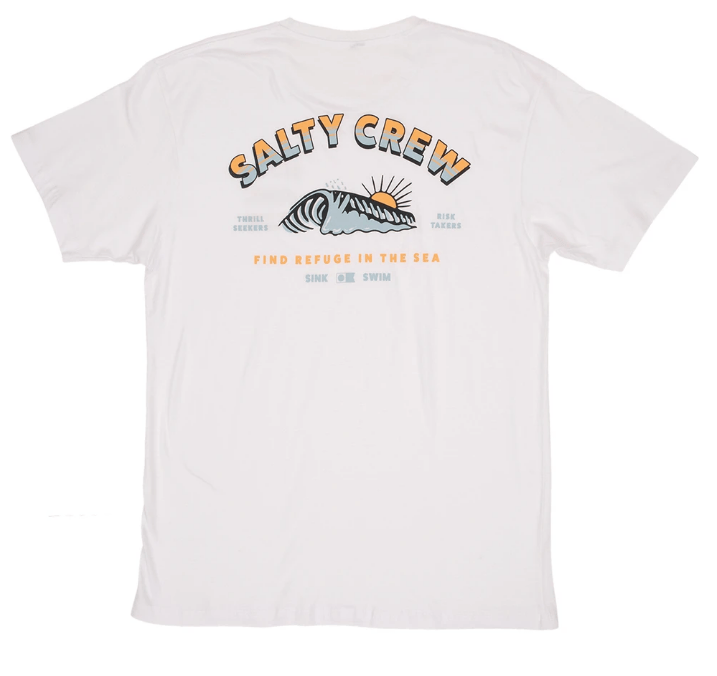 SALTY CREW Backdoor T-Shirt White MENS APPAREL - Men's Short Sleeve T-Shirts Salty Crew