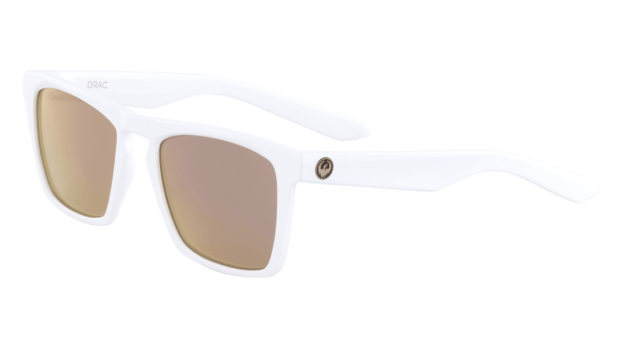 DRAGON Drac Matte White - Rose Gold Sunglasses SUNGLASSES - Dragon Sunglasses Dragon