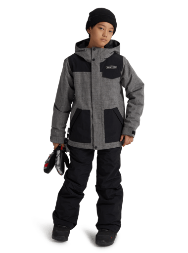 BURTON Dugout Snowboard Jacket Boys Bog Heather YOUTH INFANT OUTERWEAR - Youth Snowboard Jackets buron M
