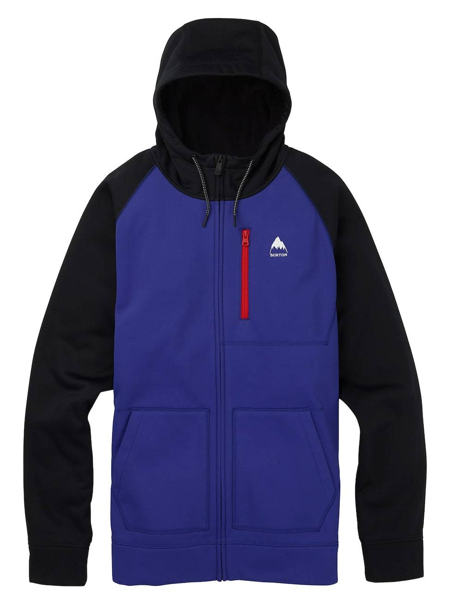 BURTON Crown Bonded Full Zip Hoodie Royal Heather/True Black