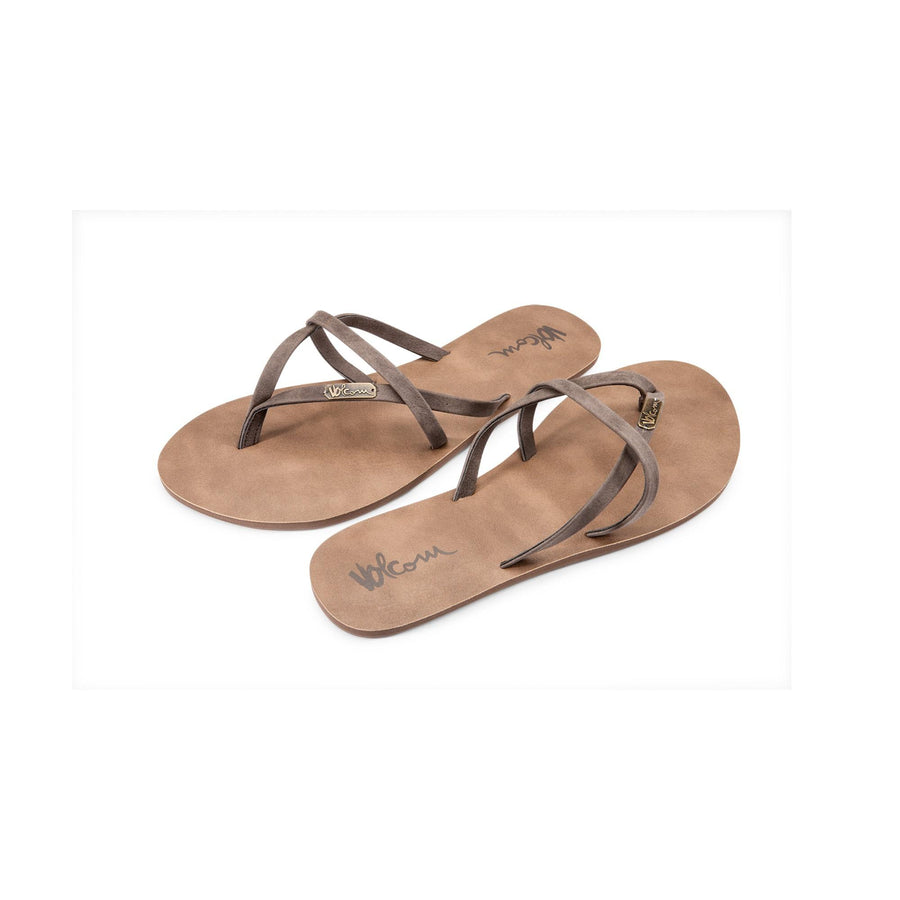 VOLCOM All Night Long Sandals Women's Brown FOOTWEAR - Women's Sandals volcom