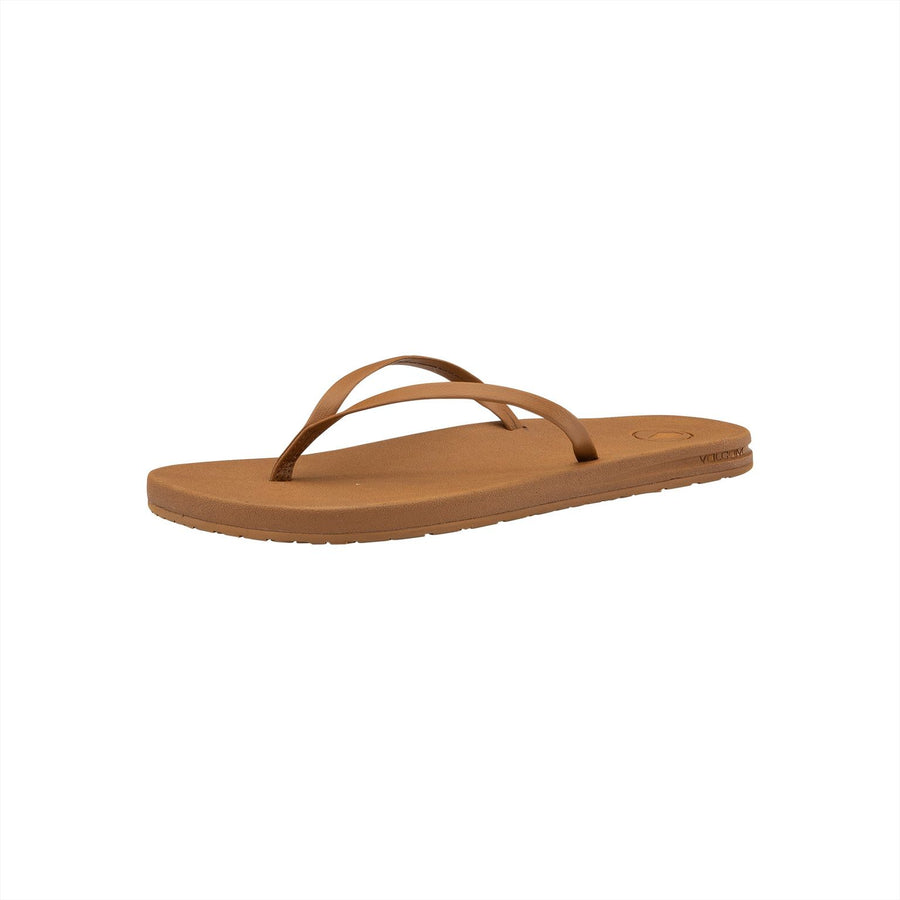 VOLCOM E-Cliner Prayer Sandals Women's Cognac
