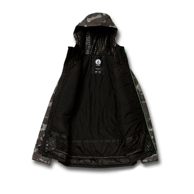 VOLCOM Deadly Stones Insulated Snowboard Jacket Army 2021 MENS OUTERWEAR - Men's Snowboard Jackets Volcom