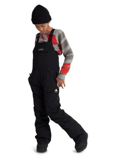 BURTON Skylar Bib Snowboard Pants Youth True Black 2021 YOUTH INFANT OUTERWEAR - Youth Snowboard Pants Burton